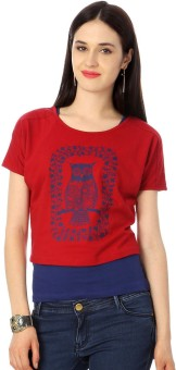 Honey By Pantaloons Casual Short Sleeve Graphic Print Women's Top