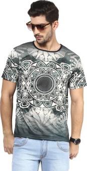 Yepme Printed Men's Round Neck Grey T-Shirt