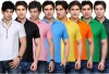 TSX Solid Men's Polo Neck T-Shirt(8 Set)