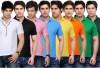 TSX Solid Men's Polo Neck T-Shirt(8 Set)