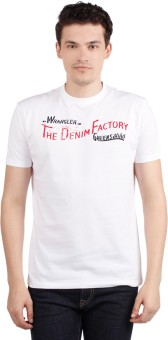 Compare Wrangler Round Neck Printed Men T-shirt: T-Shirt at Compare Hatke
