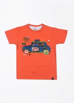 Nauti Nati Printed Boy's Round Neck T-Shirt - TSHDYAGZNC82CCXN