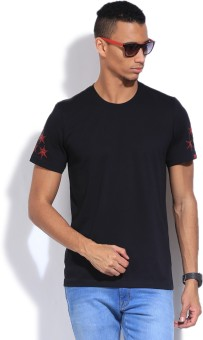 Adidas Solid Men's Round Neck T-Shirt