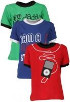 Gkidz Printed Boy's Round Neck T-Shirt - Pack Of 3 - TSHDZNG3JW6MYDR7