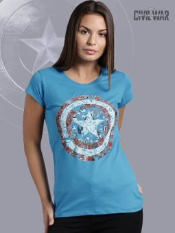 Kook N Keech Marvel Graphic Print Women's Round Neck T-Shirt - TSHEGFJFWJ7HYSGV