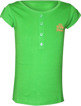 Jazzup Solid Girl's Round Neck T-Shirt
