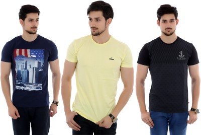 French Twins Printed Men's Round Neck T-Shirt