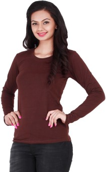 Change360° Classic Full Sleeves Solid Women's Round Neck T-Shirt