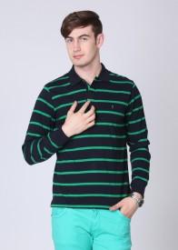Indian Terrain Striped Men's Polo T-Shirt