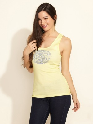 Roxy Roxy Solid Women's Round Neck T-Shirt (Yellow)