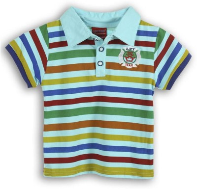 Lilliput Striped Baby Boy's Polo Neck T-Shirt
