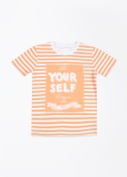 FS Mini Klub Striped Boy's Round Neck T-Shirt