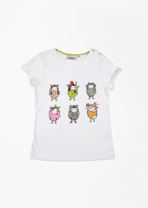 Nauti Nati Printed Girl's Round Neck T-Shirt - TSHDSYJRZTCHFUX5