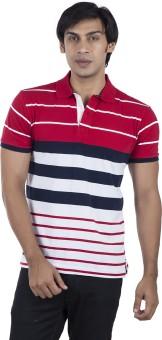 Stop To Start Self Design Men's Polo Neck T-Shirt