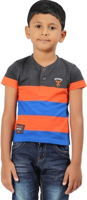 Ventra Printed Boy's Henley T-Shirt