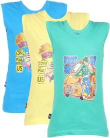 White Moon Graphic Print Boy's Round Neck Multicolor T-Shirt