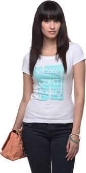 Yepme Graphic Print Women's White, Blue T-Shirt