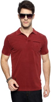 SF Jeans By Pantaloons Solid Men's Polo T-Shirt