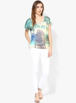 Vero Moda Graphic Print Women's Round Neck T-Shirt - TSHEFE4Q73Z6BG3Y