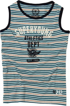 SuperYoung Striped Boy's Round Neck T-Shirt