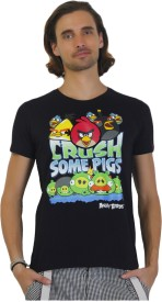 Angry Birds Printed Men's Round Neck T-Shirt