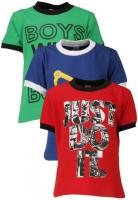 Gkidz Printed Boy's Round Neck T-Shirt - Pack Of 3 - TSHDZNG3HAX9ZNAF