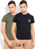 Lee Solid Men's Round Neck T-Shirt - Pack Of 2