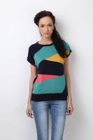 Bombay High Geometric Print Women's Round Neck T-Shirt