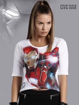 Kook N Keech Marvel Graphic Print Women's Boat Neck T-Shirt