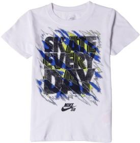 Nike SB Graphic Print Boy's Round Neck White T-Shirt