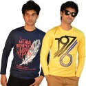 TSG Escape Printed Men's Round Neck T-Shirt - Pack Of 2 - TSHDTKQG43GBGHNH