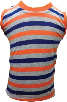Tick Lish Fancy Smart Kids Striped Boy's Round Neck T-Shirt