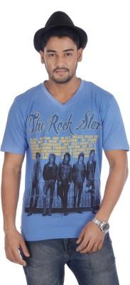 TSG Breeze Printed Men,s V-neck T-Shirt