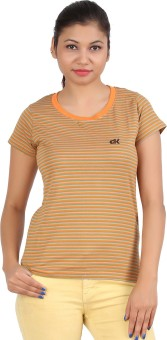 DK Clues OR Striped Women's Round Neck T-Shirt