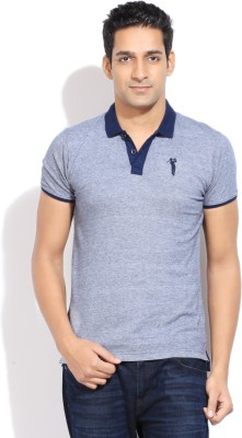 Bossini BOSSINI Solid Men's Polo T-Shirt (Indigo)