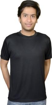 Inez INEZ GYM/SPORT SUPER FIT BLACK DRYFIT T-SHIRT Solid Men's Round Neck T-Shirt - TSHE4YPWRRNKYQCY