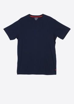 Jockey Solid Men's Round Neck Dark Blue T-Shirt