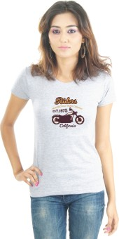 Lacrafters Biker And Riders Graphic Print Women's Round Neck T-Shirt - TSHE3YU7JFMEZBM2