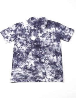 Crush On Craze Self Design Boy's Polo Neck Light Blue T-Shirt