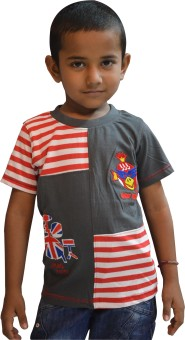Just In Plus Printed Baby Boy's Round Neck T-Shirt