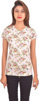 Blueash Floral Print Women's Round Neck T-Shirt