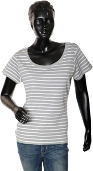 Starsy Solid Women's Round Neck White T-Shirt
