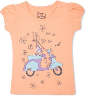 MAX Graphic Print Girl's Round Neck T-Shirt - TSHE4CERMCR4YHNG