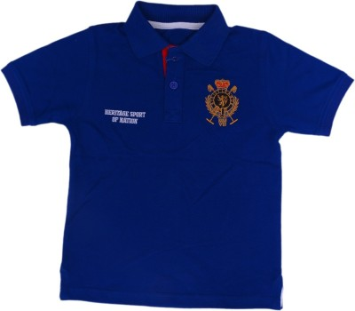 612 League Solid Boy's Polo Neck T-Shirt