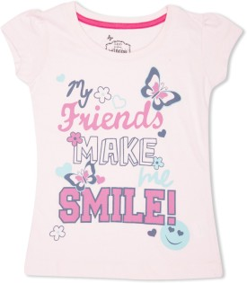 MAX Graphic Print Girl's Round Neck T-Shirt - TSHE4CERZZY7MJHB