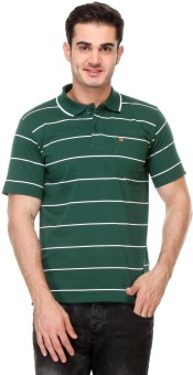 Rose Taylor Striped Men's Polo Green T-Shirt