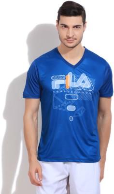 Fila Printed Men's V-neck T-Shirt