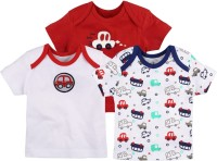 Baby Pure Printed Baby Boy's Round Neck T-Shirt (Pack Of 3)