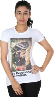 The Indian Be Devotional Graphic Print Women's Round Neck T-Shirt