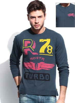 Roadster Premium Printed Men's Round Neck Reversible T-Shirt for ...